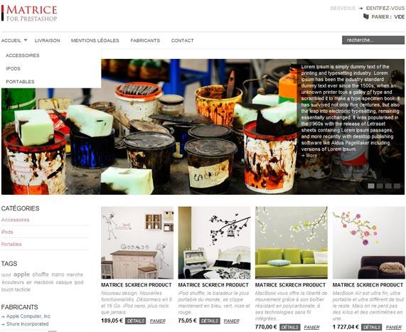 Plantilla tienda online