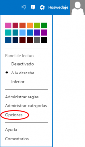 Opciones Outlook.com