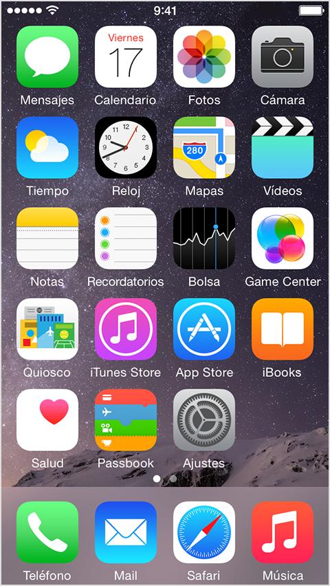 Configuraión de e-mail en Iphone: Paso 1
