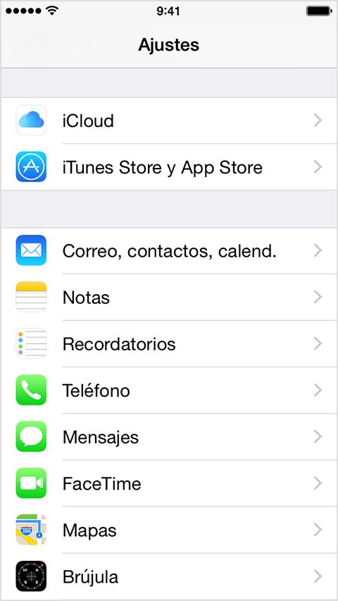 Configuraión de e-mail en Iphone: Paso 2