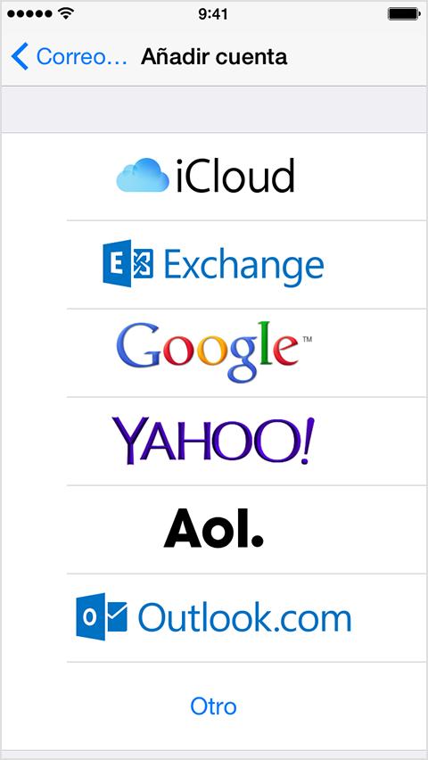 Configuraión de e-mail en Iphone: Paso 4