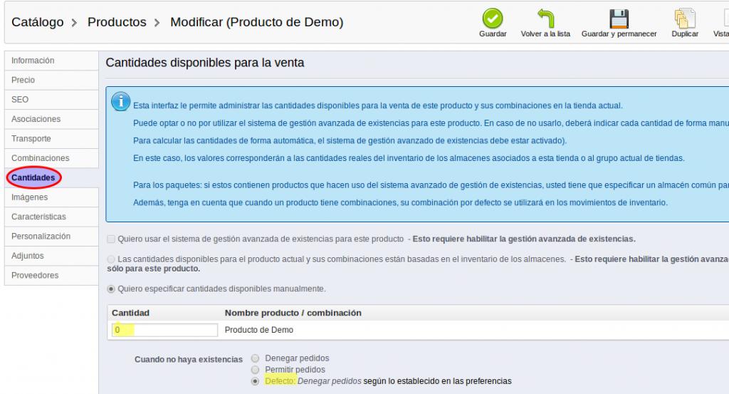 Añadir productos en Prestashop - 5