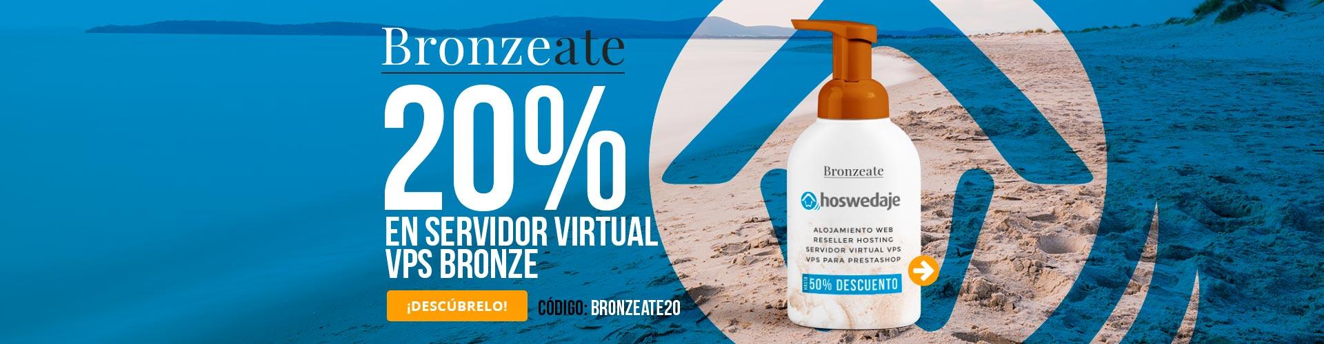 Bronzeate! 50% de descuento en VPS Bronze