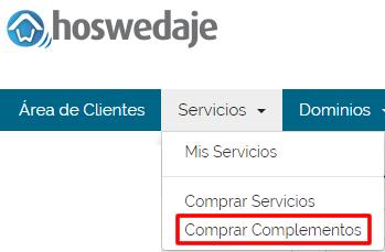 Ampliar servicios: Web Fácil 01