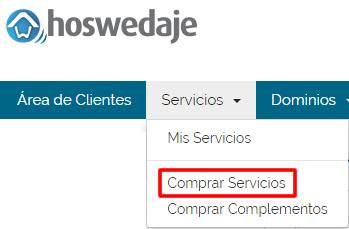 Ampliar servicios: Hosting 01