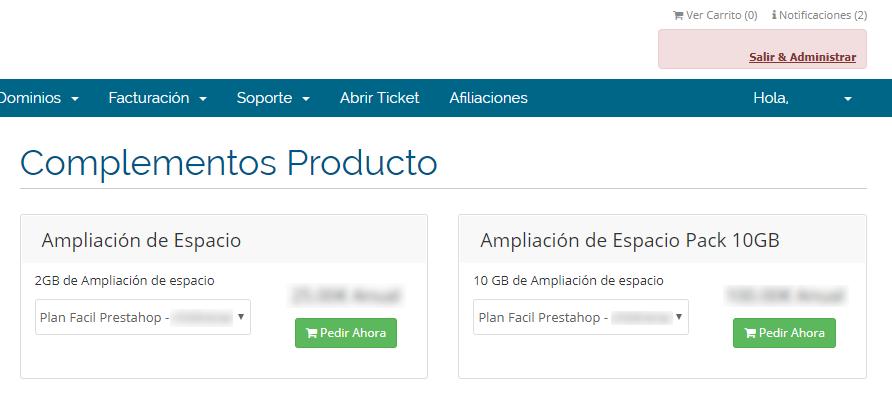 Ampliar servicios: Web Fácil 02