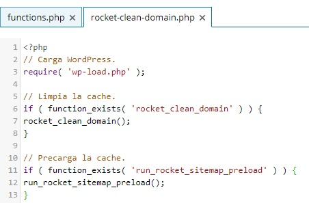 Código archivo Rocket Clean Domain