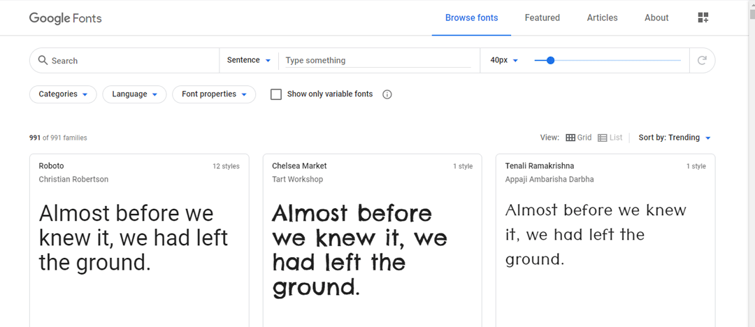 Tipos Google Fonts