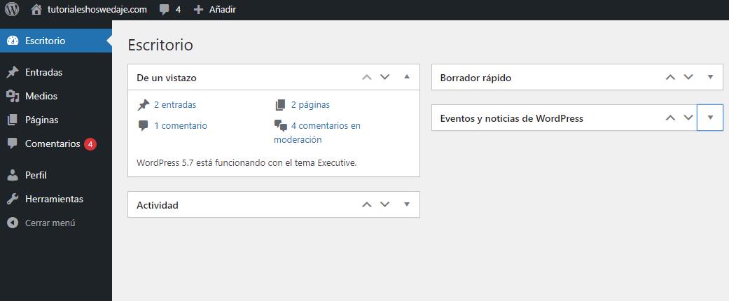 Wordpress plugins escritorio