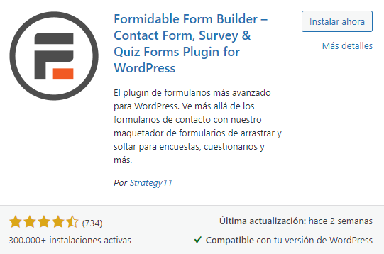 formidable form builder
