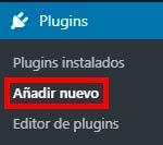 plugins añadir nuevo WordPress