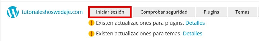 temas en WordPress iniciar sesión