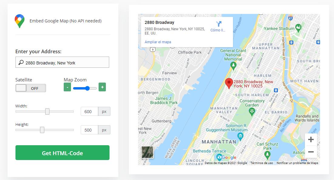 Google Maps en WordPress