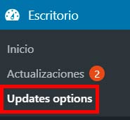 updates options