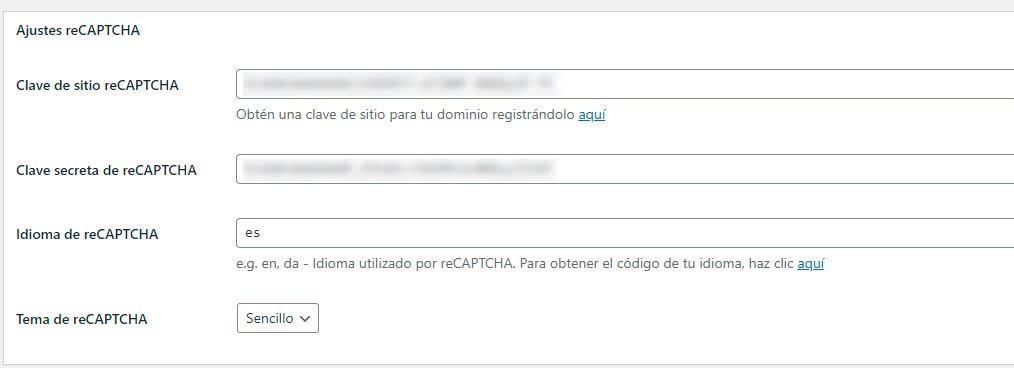 wordpress poner modo captcha