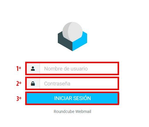 inicio de sesión en webmail
