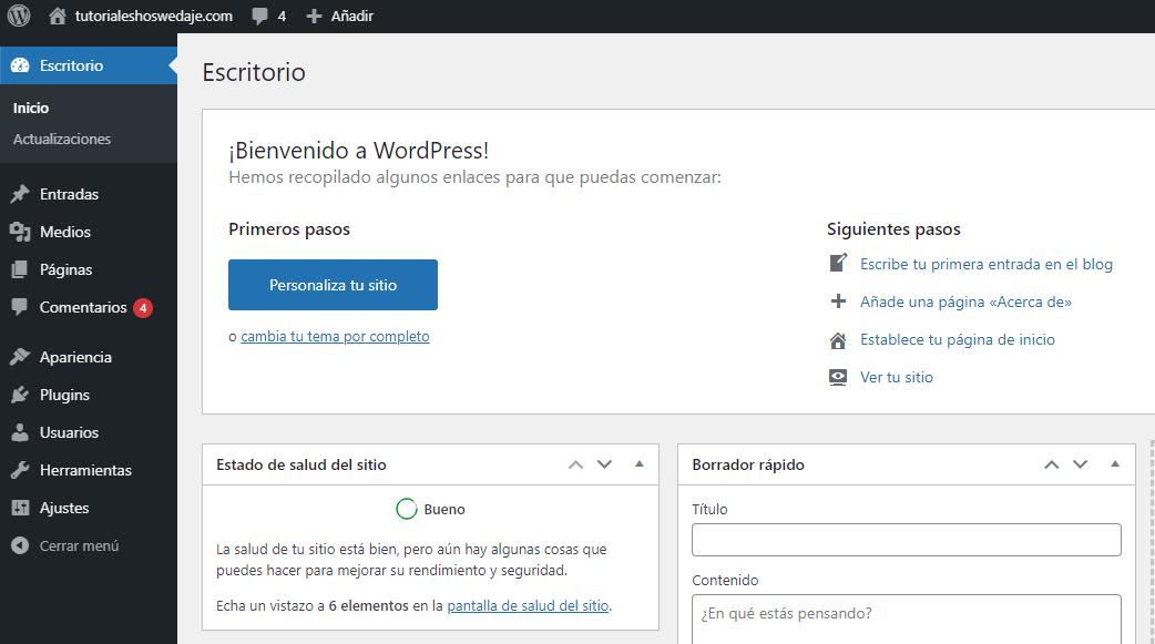 Wordpress escritorio