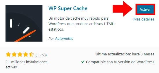 wp super cache plugin wordpress