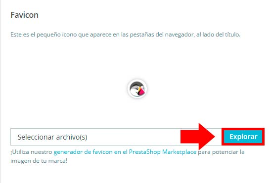 favicon en prestashop