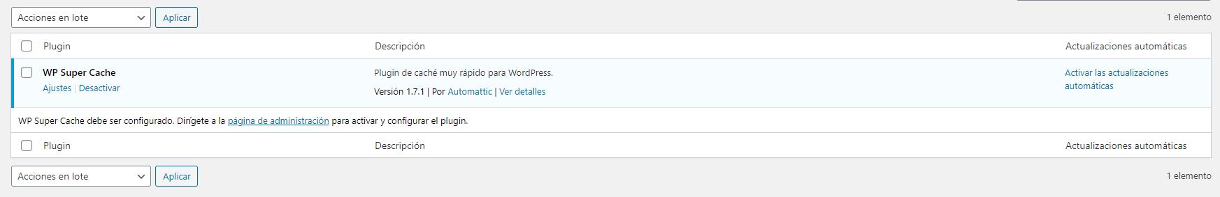 wp super cache wordpress