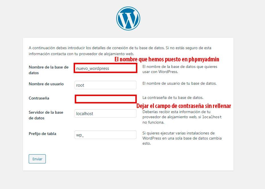 registro wordpress