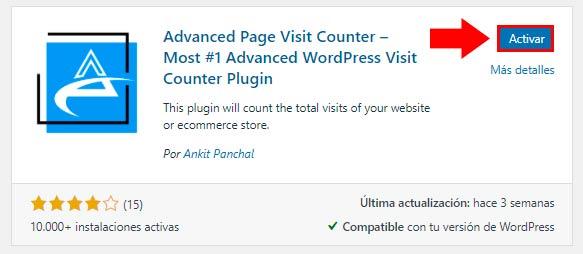 contador de visitas - Advanced Page Visit Counter