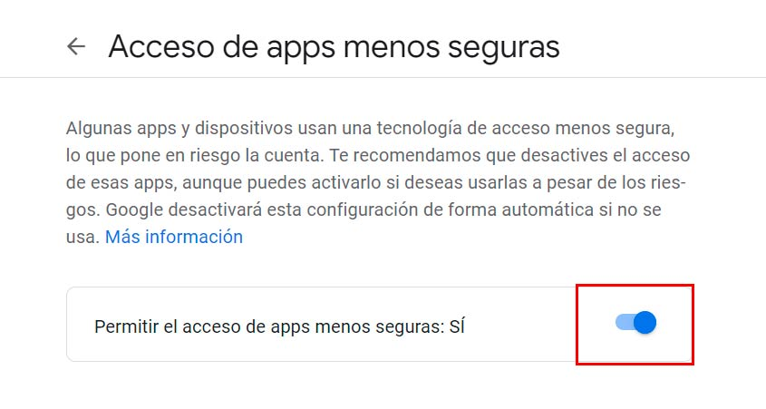 configurar SMTP