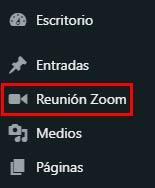 reuniones zoom en wordpress