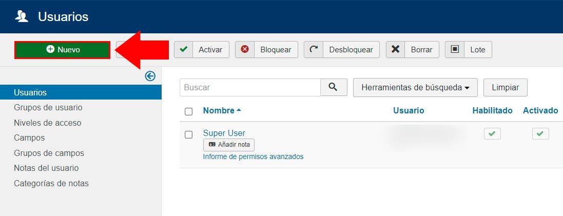 administrar usuarios