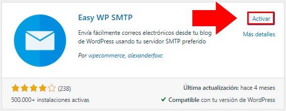 configurar SMTP en WordPress