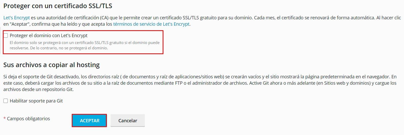 proteger certificado SSL/TLS