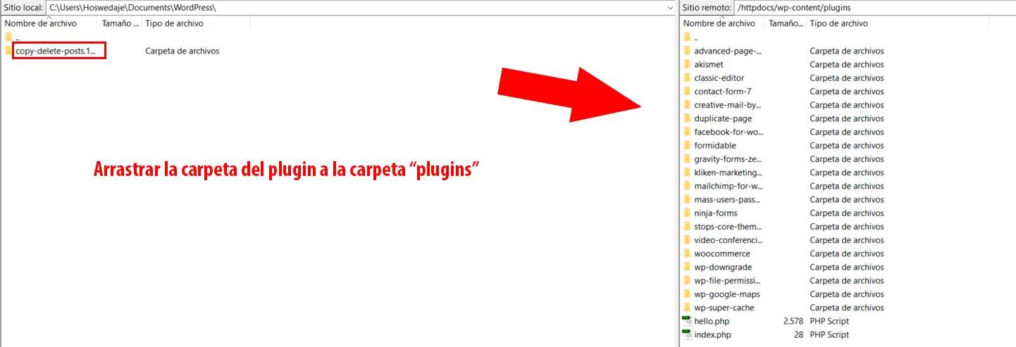 instalar plugins y plantillas en WordPress