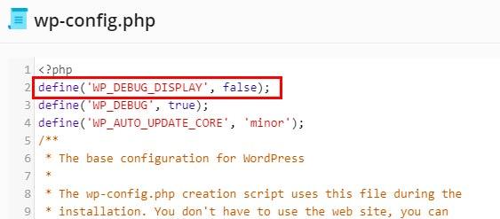 modo debug wordpress