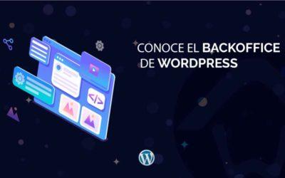 Conoce el Backoffice de WordPress