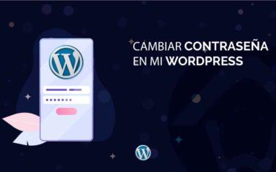 Cambiar contraseña en WordPress