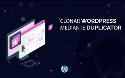 Clonar WordPress mediante Duplicator