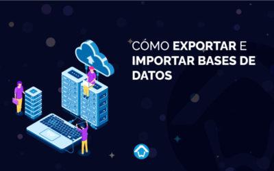Cómo exportar e importar bases de datos