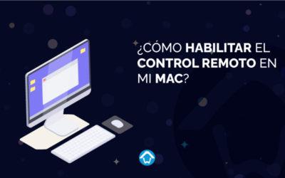 ¿Cómo habilitar el control remoto de mi Mac?