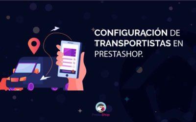 Configuración de transportistas en Prestashop