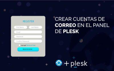 Crear cuentas de correo en el panel de Plesk