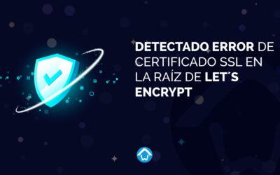 Detectado Error de certificado SSL en la raíz de Let´s Encrypt