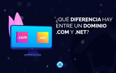 ¿Qué diferencia hay entre un dominio .com y .net?