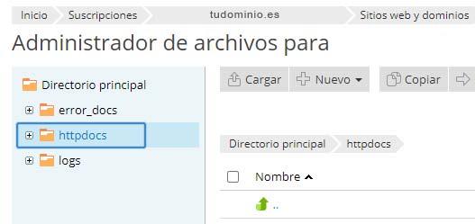 Administrador archivos- httpdocs