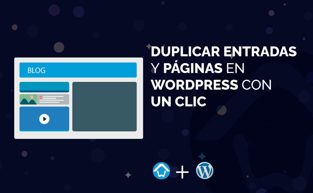 duplicar entradas y páginas en WordPress