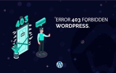 Error 403 Forbidden WordPress