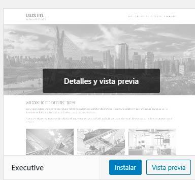 plantilla executive