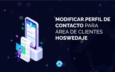 Modificar perfil de contacto para área de clientes Hoswedaje