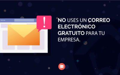 No uses un correo electrónico gratuito para tu empresa