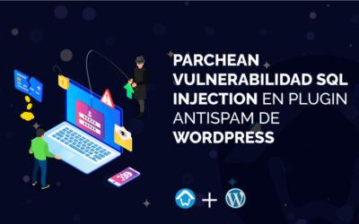 Parchean vulnerabilidad SQL Injection en plugin AntiSpam de WordPress
