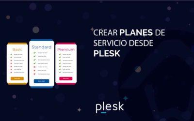 Crear planes de servicio desde Plesk